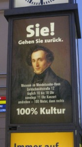 Mendelssohn House Sign