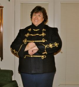Elisa's new band coat