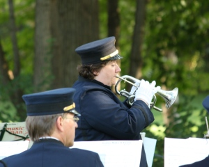 Elisa Koehler playing a cornet solo