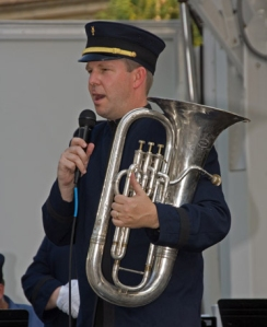 Mike O'Connor with his euphonium