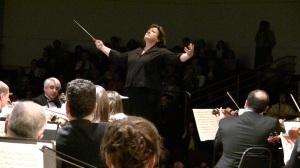 Elisa Koehler conducting the Frederick Symphony Orchestra