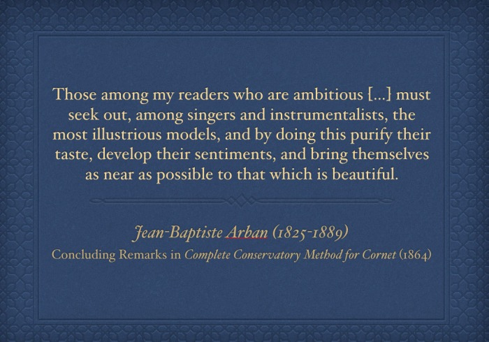 Arban quote