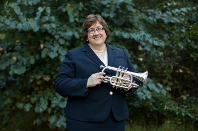Elisa Koehler with cornet