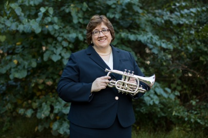 Elisa Koehler with cornet